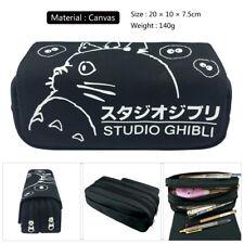 My Neighbor Totoro Canvas Pencil Case Pen Bag Handbags Makeup Bag Cosmetic Pouch