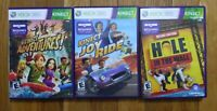 Kinect Adventures! + Joyride + Hole in the Wall - Xbox 360 Kinect Lot of 3
