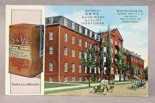 circa 1920 S&W WAYNE CIGAR CO. Detroit MICHIGAN advertising postcard *