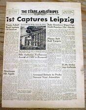 1945 WW II newspaper THE HOLOCAUST DISCOVERED +US Army captures LIEPZIG Germany