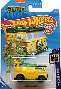 2020 Hot Wheels Mainline #147 - TMNT Party Wagon (Yellow) GHB47