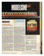 1986 : Document (Ref TR  2071) : MODELISME AUTORAILS DE DIETRICH  (1 page)