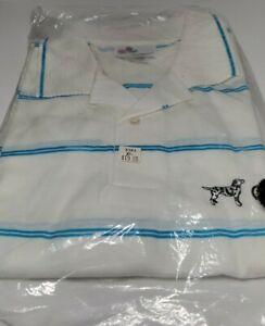Coachman Dalmatian RV Polo Short Sleeve Vintage Shirt Deadstock Size XL