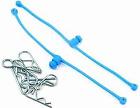 Du-Bro 2249 Body Clip Retainer (Blue ) (Body- Klips Included)