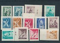 Poland 1955 Sport Basketball Proof Proba Imperf Overprinted MNH (BKA 2146