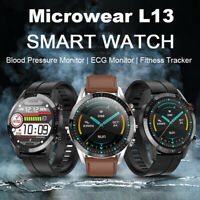 Microwear L13 IP68 ECG Blood Pressure Oxygen Monitor Sports Tracker Smart Watch