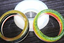 Clear Silicone  UNISEX Bangle Bracelet molds .Size depth 20mm, width 68mm .(A04)