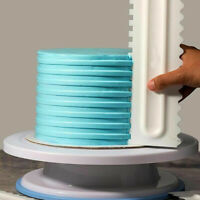 Cake Decorating Comb Icing Smoother Cake Scraper Pastry 6 Designs Baking A_ex
