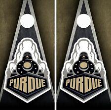 Purdue Boilermakers Cornhole Wrap Skin Board COLLEGE Sports Vinyl Decal GC154