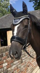 BLACK PATENT LEATHER SNAFFLE CRANK PADDED COMFORT FULL COB (NOSEBAND ONLY)