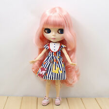 """12"""" Neo Blythe Doll Pink Hair from Factory Joint Body Nude Doll JSW95008"""