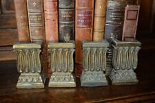 One Pair Antique French Bronze Columns Furniture Trim Mount Decorative Hardware