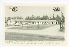 Alda Motel Rppc Toronto Ontario—Vintage Roadside Photo ca. 1950s
