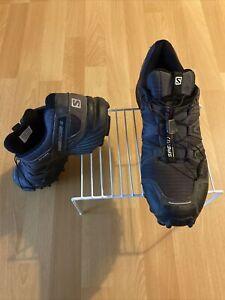 Men's 12 Salomon Speed Cross 4 Trail Running Outdoor Hiking Shoes (Worn)