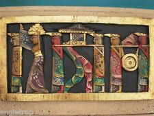 Bali Ceremony Wall Hanging Wood Carved Art Wooden Carving Balinese 50cm