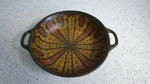 Antique Liberty & Co RARE Art Deco Gouda Pottery Bowl Holland London Two Handle
