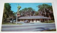 Palms Court Motel Dade City,Florida Vintage Cars Posted 1969 Chrome Postcard