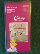 NEW! Disney Princess Self-Stick Room Appliques 26 Precut Reusable Wall Stickers