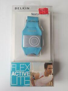 NIB Teal Blue rubber material Armband Belkin Sport Flex Active Lite.