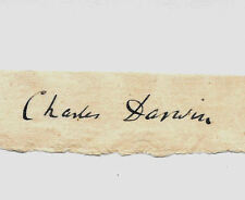Charles Darwin Autograph Reprint On Genuine Original Period 1860s Paper