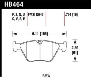 Hawk for BMW 330Ci/330i/330Xi/M3/X3/Z4 DTC-70 Front Race Pads - hawkHB464U.764