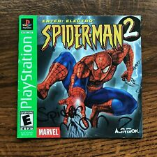 Spider Man 2 Enter Electro PS1 Playstation 1 PS One Instruction Manual Only