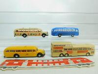 BO879-0,5# 4x Brekina H0/1:87 Bus: Büssing Jägermeister + Mercedes/MB Post etc