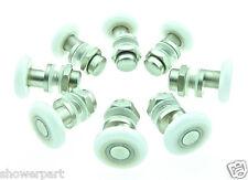 8 x rouleaux de porte de douche de remplacement / coureurs / ROUES / poulies roue dia 25mm L004