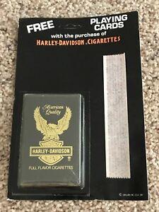 HARLEY DAVIDSON CIGARETTES Playing Cards Eagle Logo 1987 Vintage New Sealed NOS