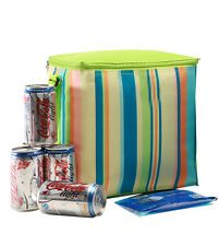 Insulated Cooler lunch Bag | 10L / 12 can capacity | incl. ice brick | Green