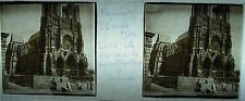 Plate Photo Stereoscopic Photography Cathedral Reims Rebuild 05 1929