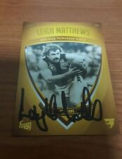 1961 - 2008 Hawthorn PREMIERSHIP PLAYER LEIGH MATTHEWS SIGNED CARD