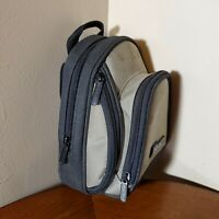 "Gameboy Advance SP Bag Carrying Case 2004 Gray Nintendo 9"" Small Backpack"