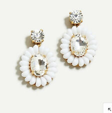 Sold Out! New$34.50 White J Crew Resin-Beaded Statement Earrings!