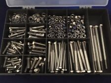 A4 316 Marine Grade Stainless Steel Nuts and Bolts and Washers Assorted 460 pcs