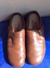 SAS women's Brown orthopaedic diabetic shoes, slip on, wedge heel size 8.5S