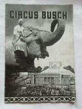 Circus Busch Programmheft Werbung 1954