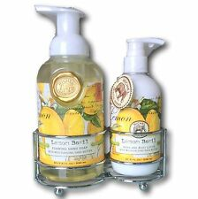 Michel Design Works LEMON BASIL Caddy 530ml Foaming Soap and 236ml Body Lotion