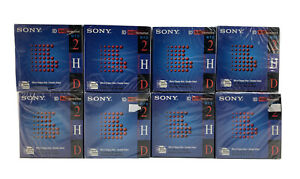 "SONY Micro Floppy 2HD 3.5"" MAC Formatted 1.40 MB 10MFD-2HD-cfm Lot Of 8 10-packs"