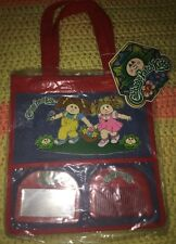 New! VTG Cabbage Patch Kids RARE Tote Bag Purse / Mirror And Comb 1983 3+ Blue
