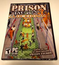 PRISON TYCOON 3 Lockdown  Game PC CD-Rom Windows XP/Vista CD  NIB TEEN Rating