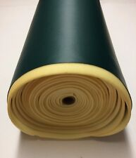 "1/4"" FOAM BACKED MARINE VINYL GREEN ATV AUTO HEADLINER BOAT FABRIC BY YARD 54""W"