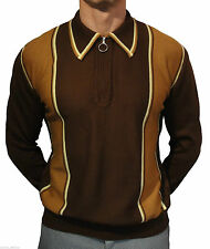 Long Sleeve Polo Slim Striped Casual Shirts & Tops for Men