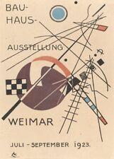 Vintage BAUHAUS 1923 EXHIBITION (W. GROPIUS) 250gsm Reproduction A3 Poster
