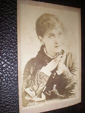CDV old photograph actress Maude Branscombe c1870s