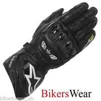 Alpinestars GP Tech Leather Gloves Black motorcycle / motorbike ideal for track
