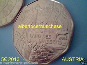 5 euro 2013 rame Cu Austria Autriche Osterreich Land des wassers paese acqua