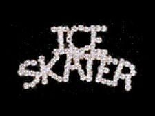 Elegant Swarovski Ice Skater Skating Lapel Pin SPARKLING