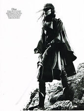 PUBLICITE ADVERTISING  2010   CHRISTIAN DIOR  collection manteau-cape cuir