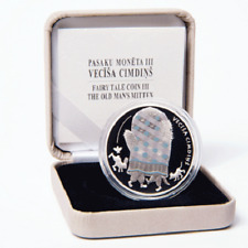 NEW NEW Latvia 5 EUR 2017 Fairy tale coin III The Old Man's Mitten, Silver 925